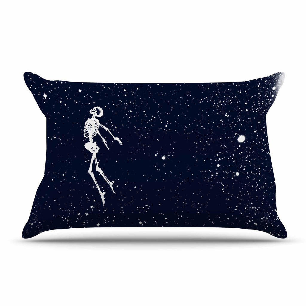 "BarmalisiRTB ""Dead Space1"" Blue White Digital Pillow Sham - KESS InHouse  - 1"