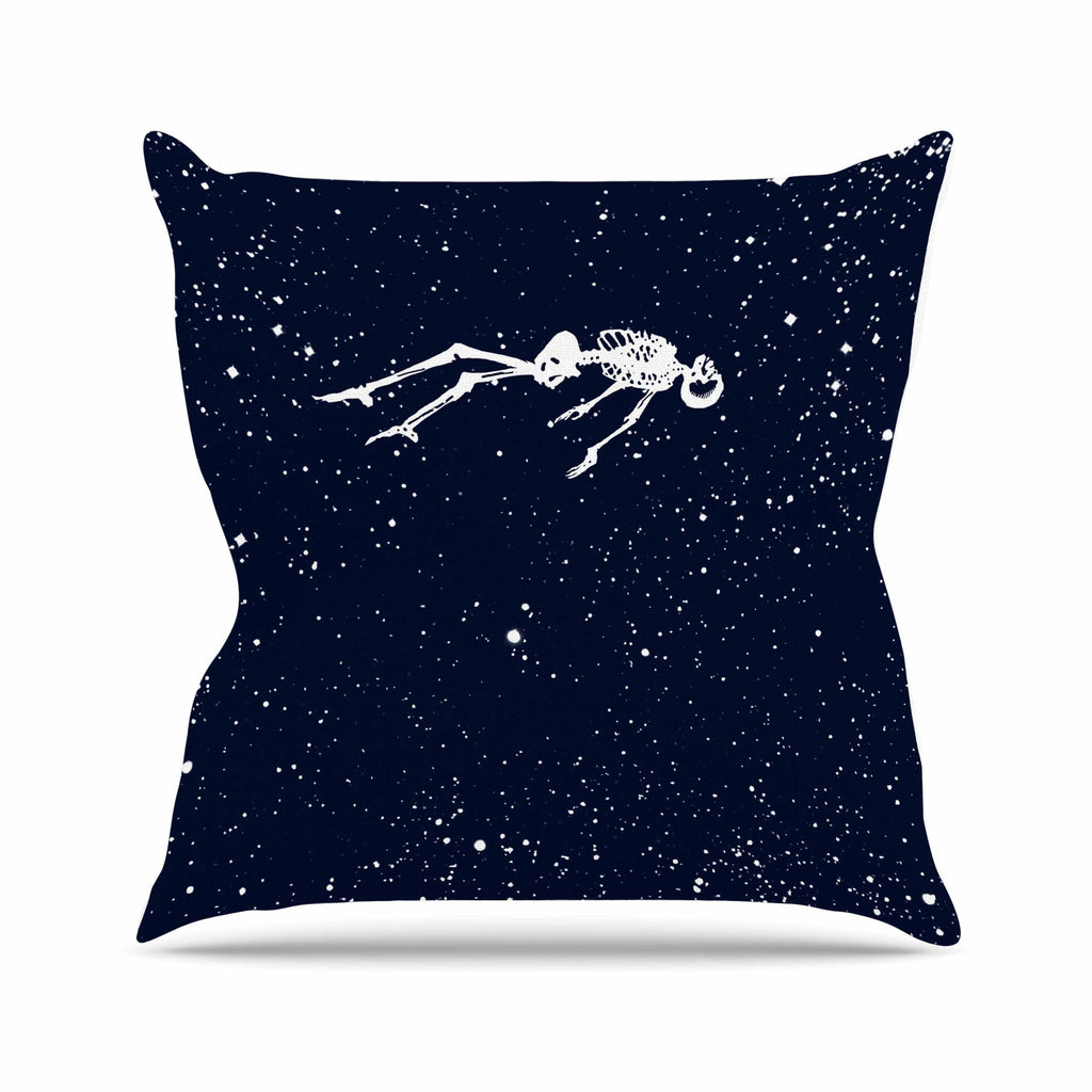 "BarmalisiRTB ""Dead Space1"" Blue White Digital Throw Pillow - KESS InHouse  - 1"
