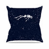 "BarmalisiRTB ""Dead Space1"" Blue White Digital Outdoor Throw Pillow - KESS InHouse  - 1"
