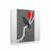 "BarmalisiRTB ""Winter Japan"" Black Gray Digital Canvas Art - KESS InHouse  - 1"