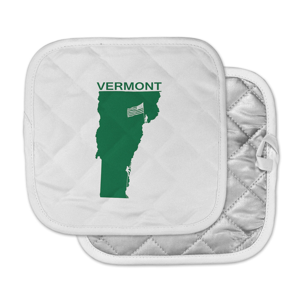 "BarmalisiRTB ""Vermont"" Green White Digital Pot Holder"