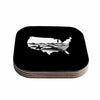 "BarmalisiRTB ""Native American"" Black White Digital Coasters (Set of 4)"
