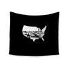 "BarmalisiRTB ""Native American"" Black White Digital Wall Tapestry - KESS InHouse  - 1"
