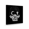 "BarmalisiRTB ""Space Skull"" Black White Illustration Canvas Art - KESS InHouse  - 1"