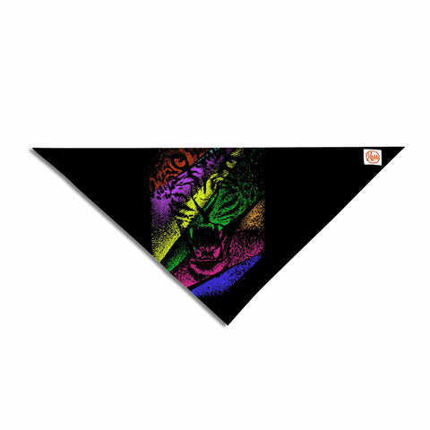 "BarmalisiRTB ""Split Apart"" Black Yellow Digital Pet Bandana"