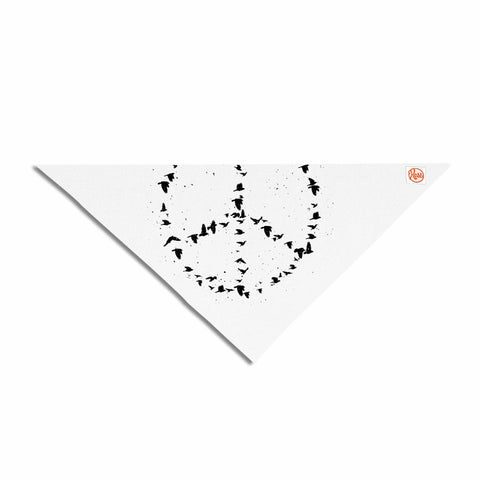 "BarmalisiRTB ""Peace"" Black White Digital Pet Bandana"