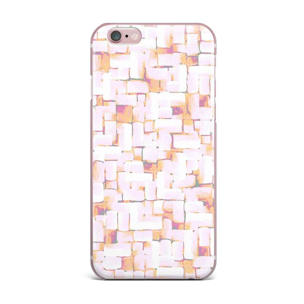 "Rachel Watson ""Cobble"" Coral Orange iPhone Case - KESS InHouse"