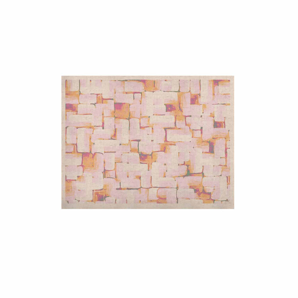 "Rachel Watson ""Cobble"" Coral Orange KESS Naturals Canvas (Frame not Included) - KESS InHouse  - 1"