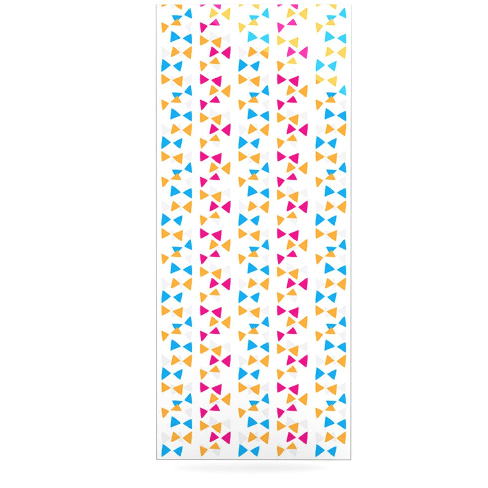 "Apple Kaur Designs ""Let's Celebrate"" Orange Pink Luxe Rectangle Panel - KESS InHouse  - 1"
