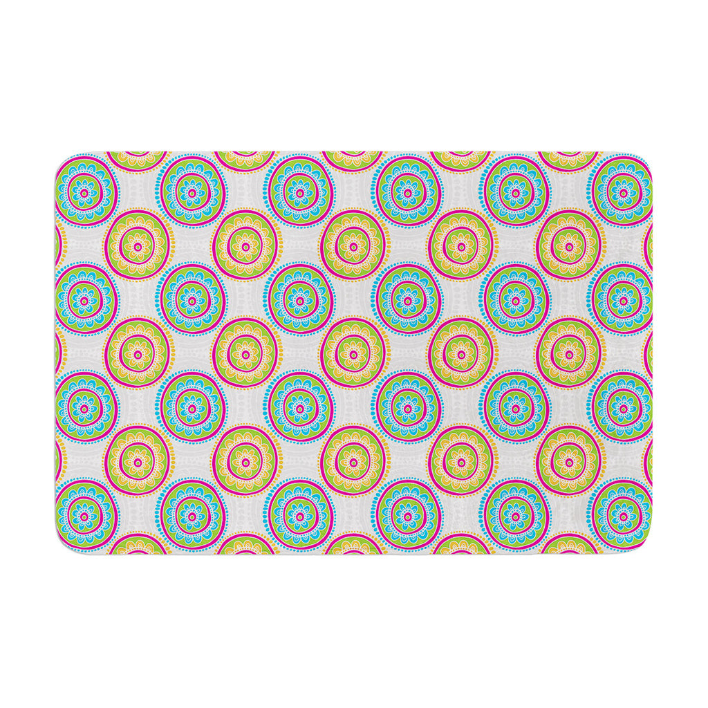 "Apple Kaur Designs ""Bombay Dreams"" Blue Green Memory Foam Bath Mat - KESS InHouse"