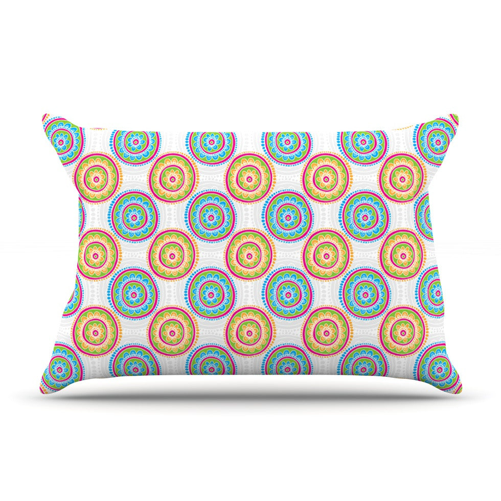 "Apple Kaur Designs ""Bombay Dreams"" Blue Green Pillow Sham - KESS InHouse  - 1"