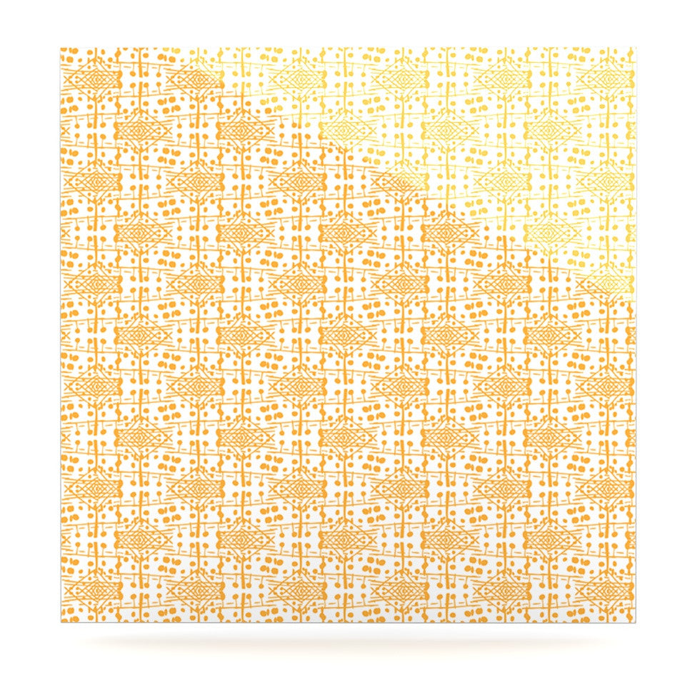 "Apple Kaur Designs ""Diamonds"" Yellow Squares Luxe Square Panel - KESS InHouse  - 1"