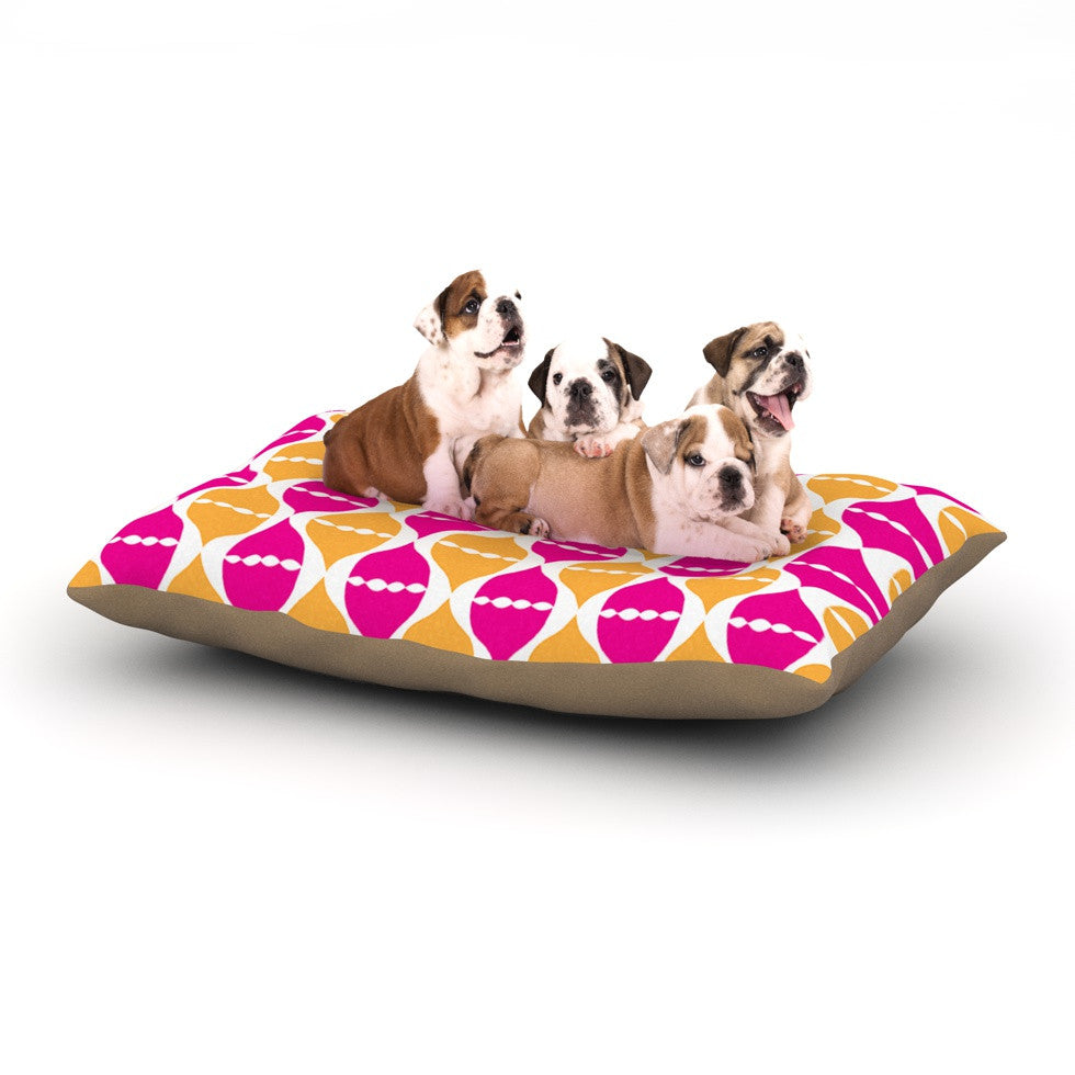 "Apple Kaur Designs ""Moroccan Dreams"" Pink Orange Dog Bed - KESS InHouse  - 1"