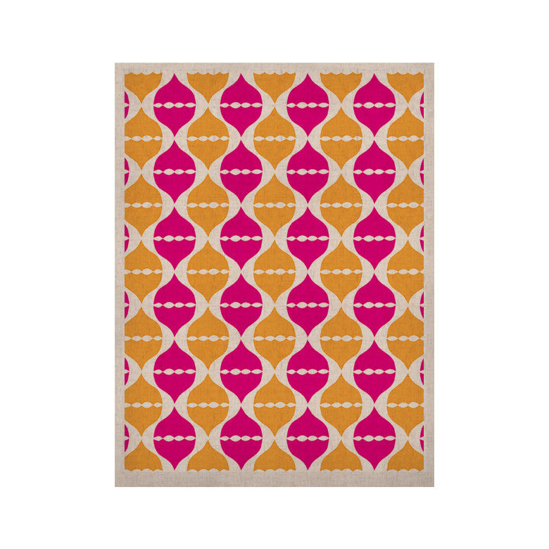 "Apple Kaur Designs ""Moroccan Dreams"" Pink Orange KESS Naturals Canvas (Frame not Included) - KESS InHouse  - 1"