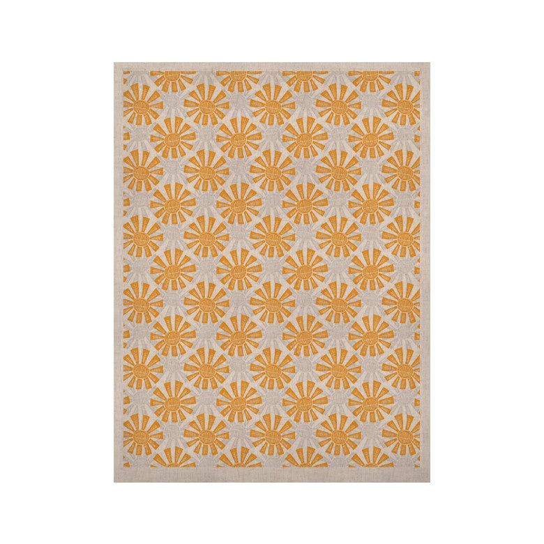 "Apple Kaur Designs ""Sunburst"" Orange Gray KESS Naturals Canvas (Frame not Included) - KESS InHouse  - 1"