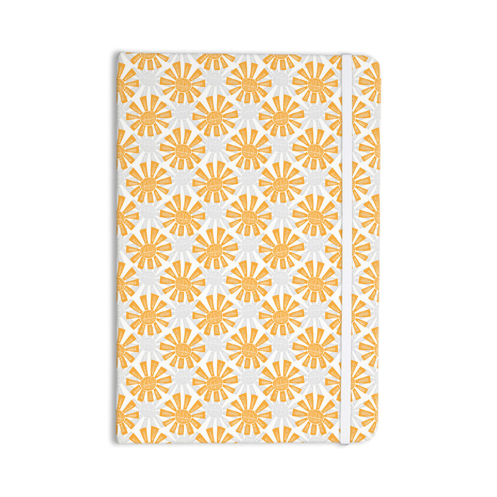 "Apple Kaur Designs ""Sunburst"" Orange Gray Everything Notebook - KESS InHouse  - 1"
