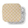 "Apple Kaur Designs ""Sunburst"" Orange Gray Pot Holder"