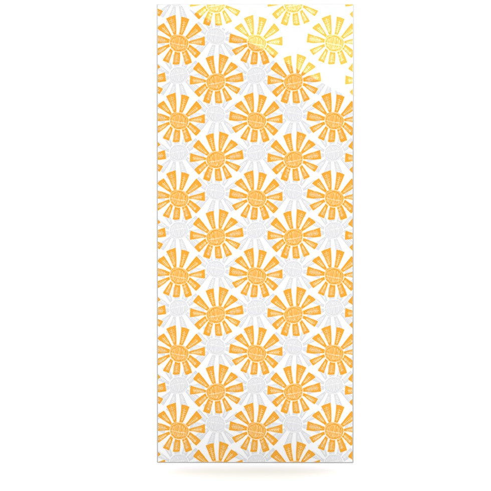 "Apple Kaur Designs ""Sunburst"" Orange Gray Luxe Rectangle Panel - KESS InHouse  - 1"
