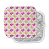 "Apple Kaur Designs ""Tea-Birds"" Orange Pink Pot Holder"