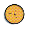 "Apple Kaur Designs ""Wild Summer Dandelions"" Gold Circles Modern Wall Clock"