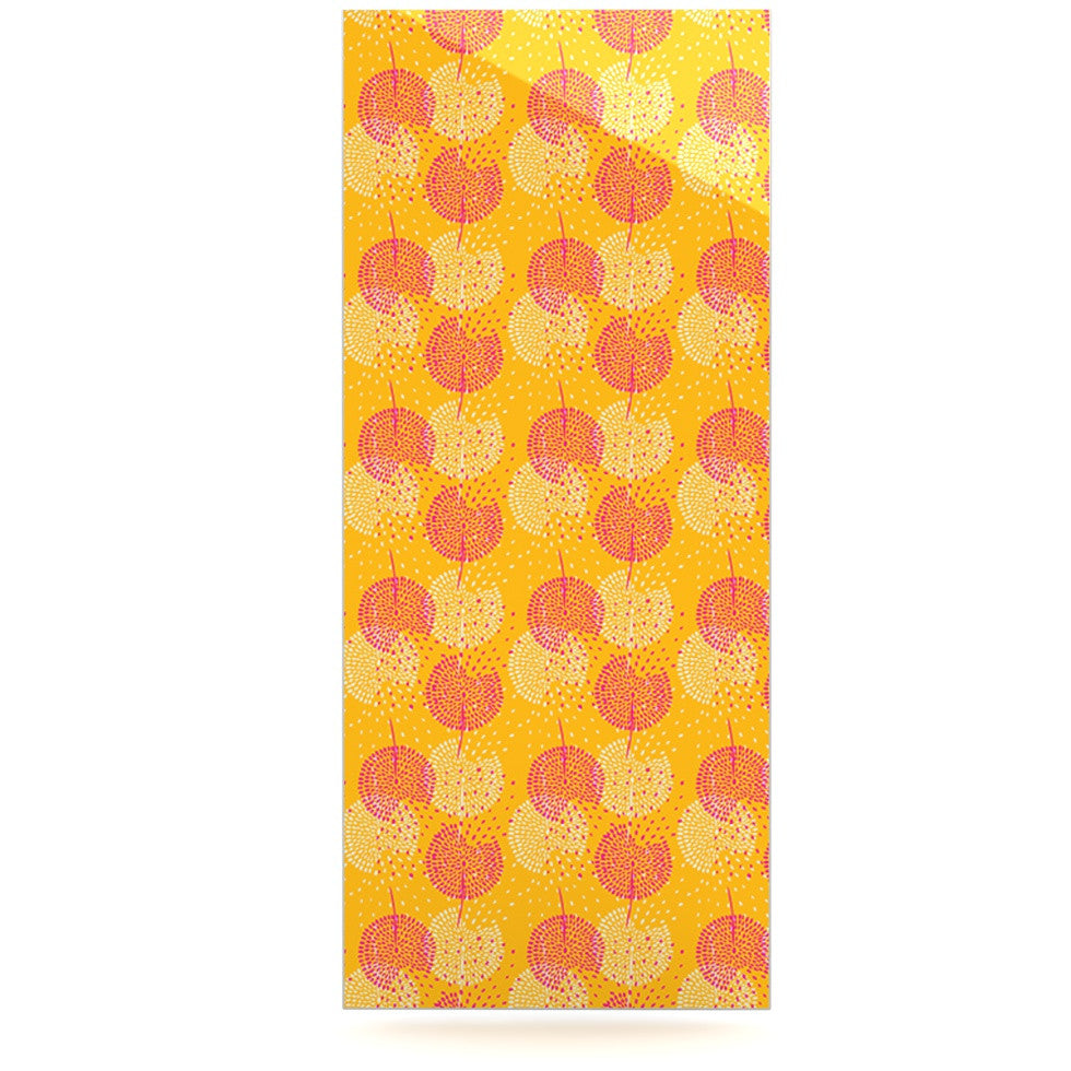 "Apple Kaur Designs ""Wild Summer Dandelions"" Gold Circles Luxe Rectangle Panel - KESS InHouse  - 1"