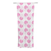 "Apple Kaur Designs ""Wild Dandelions"" Pink Gray Decorative Sheer Curtain - KESS InHouse"