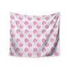 "Apple Kaur Designs ""Wild Dandelions"" Pink Gray Wall Tapestry - KESS InHouse  - 1"