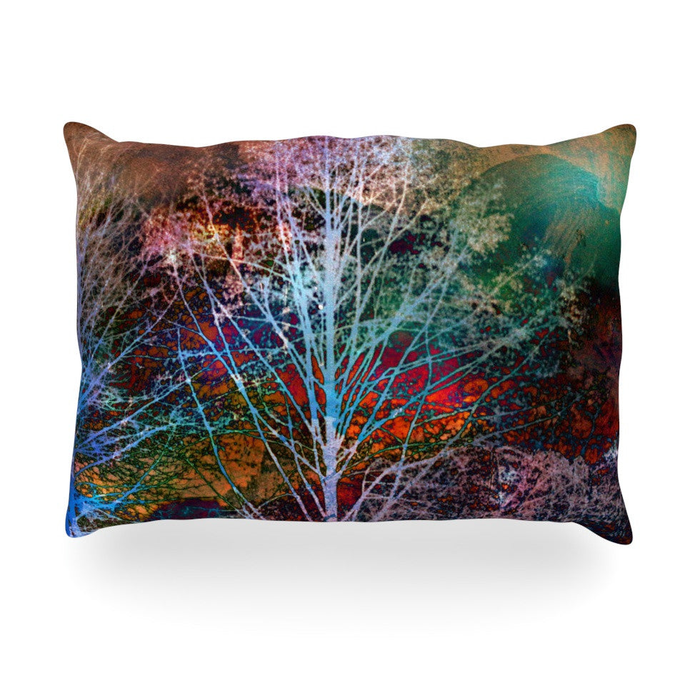 "Sylvia Cook ""Trees in the Night"" Oblong Pillow - KESS InHouse"