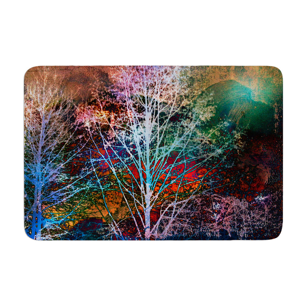 "Sylvia Cook ""Trees in the Night"" Memory Foam Bath Mat - KESS InHouse"