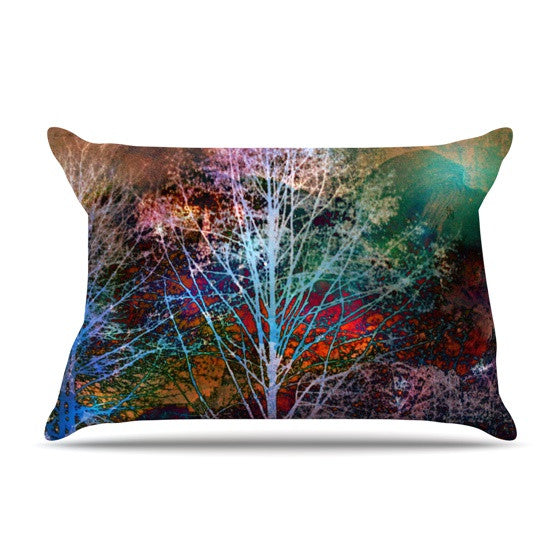 "Sylvia Cook ""Trees in the Night"" Pillow Sham - KESS InHouse"