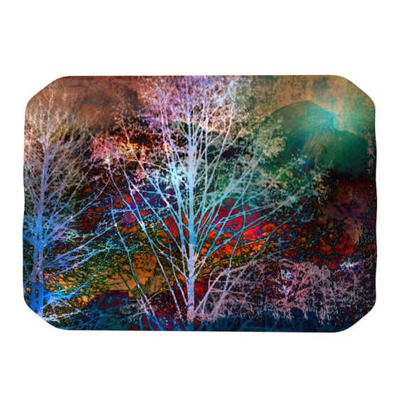 "Sylvia Cook ""Trees in the Night"" Place Mat - KESS InHouse"