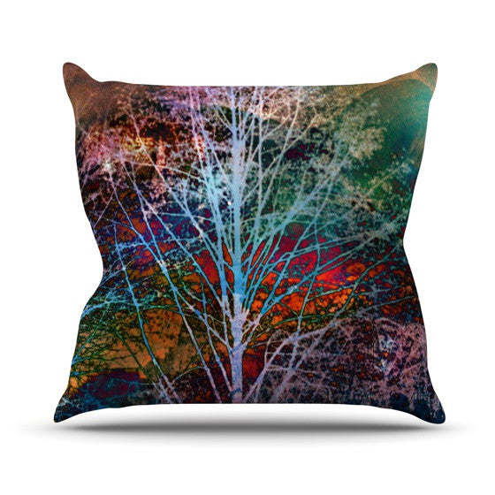 "Sylvia Cook ""Trees in the Night"" Outdoor Throw Pillow - KESS InHouse  - 1"