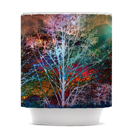 "Sylvia Cook ""Trees in the Night"" Shower Curtain - KESS InHouse"