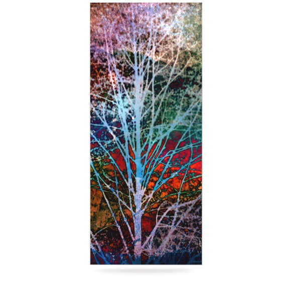 "Sylvia Cook ""Trees in the Night"" Luxe Rectangle Metal Art - KESS InHouse  - 1"