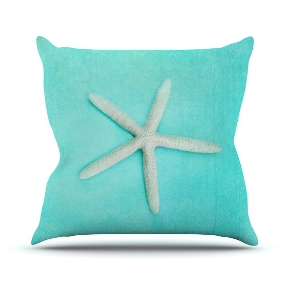 "Sylvia Cook ""Starfish"" Outdoor Throw Pillow - KESS InHouse  - 1"