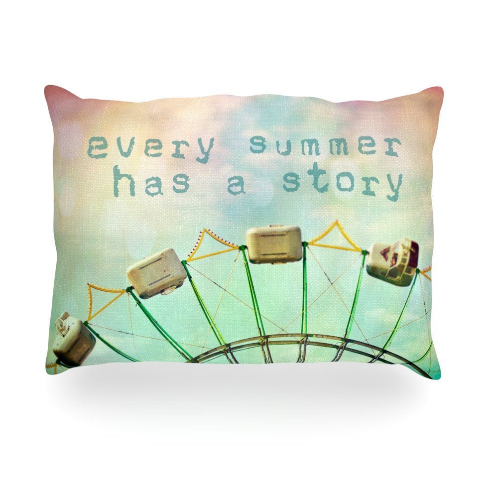 "Sylvia Cook ""Every Summer Has a Story"" Oblong Pillow - KESS InHouse"