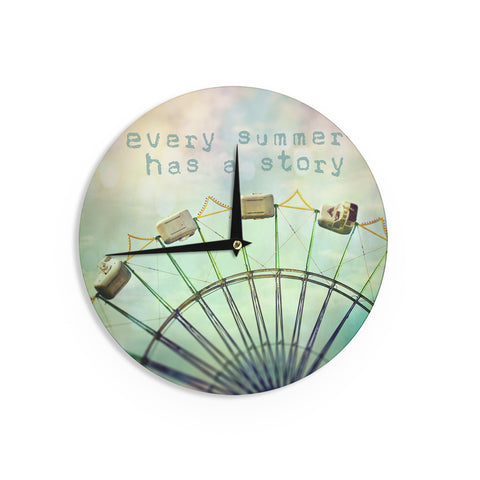 "Sylvia Cook ""Every Summer Has a Story"" Wall Clock - KESS InHouse"