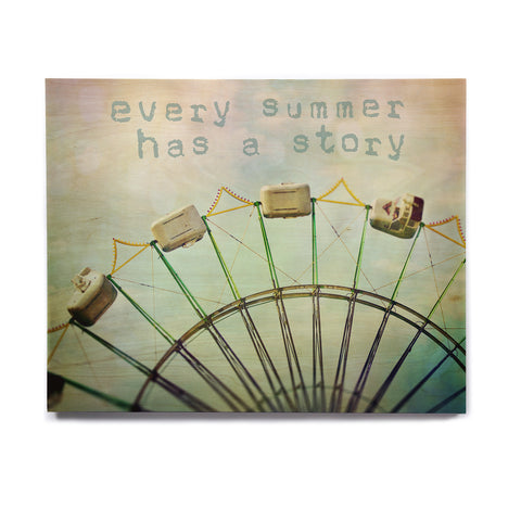 "Sylvia Cook ""Every Summer Has a Story"" Birchwood Wall Art - KESS InHouse  - 1"