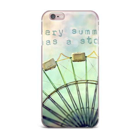 "Sylvia Cook ""Every Summer Has a Story"" iPhone Case - KESS InHouse"