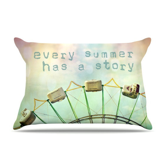 "Sylvia Cook ""Every Summer Has a Story"" Pillow Sham - KESS InHouse"