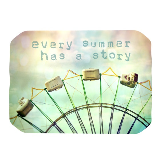 "Sylvia Cook ""Every Summer Has a Story"" Place Mat - KESS InHouse"