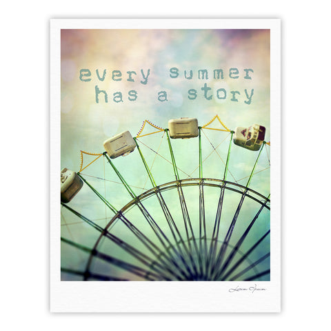 "Sylvia Cook ""Every Summer Has a Story"" Fine Art Gallery Print - KESS InHouse"