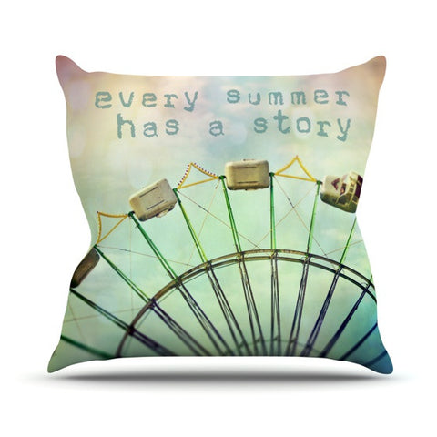 "Sylvia Cook ""Every Summer Has a Story"" Outdoor Throw Pillow - KESS InHouse  - 1"