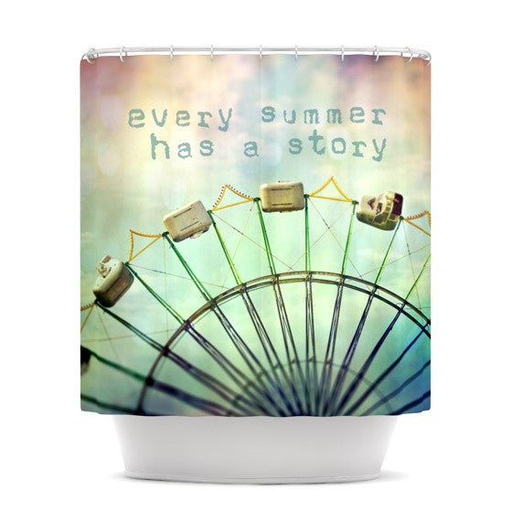 "Sylvia Cook ""Every Summer Has a Story"" Shower Curtain - KESS InHouse"