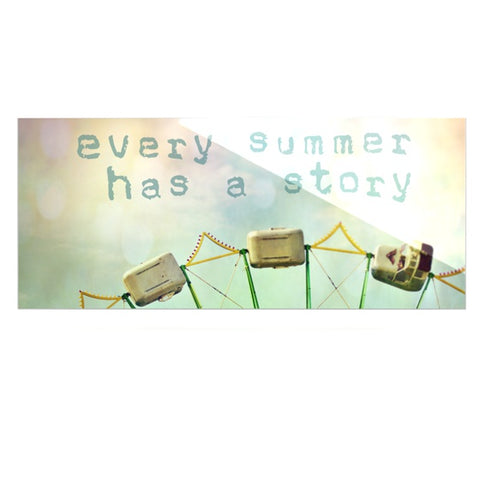 "Sylvia Cook ""Every Summer Has a Story"" Luxe Rectangle Metal Art - KESS InHouse  - 1"