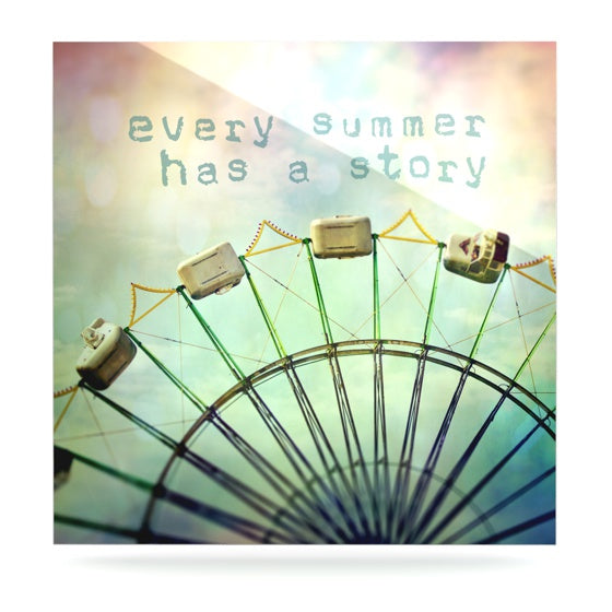"Sylvia Cook ""Every Summer Has a Story"" Luxe Square Metal Art - KESS InHouse  - 1"