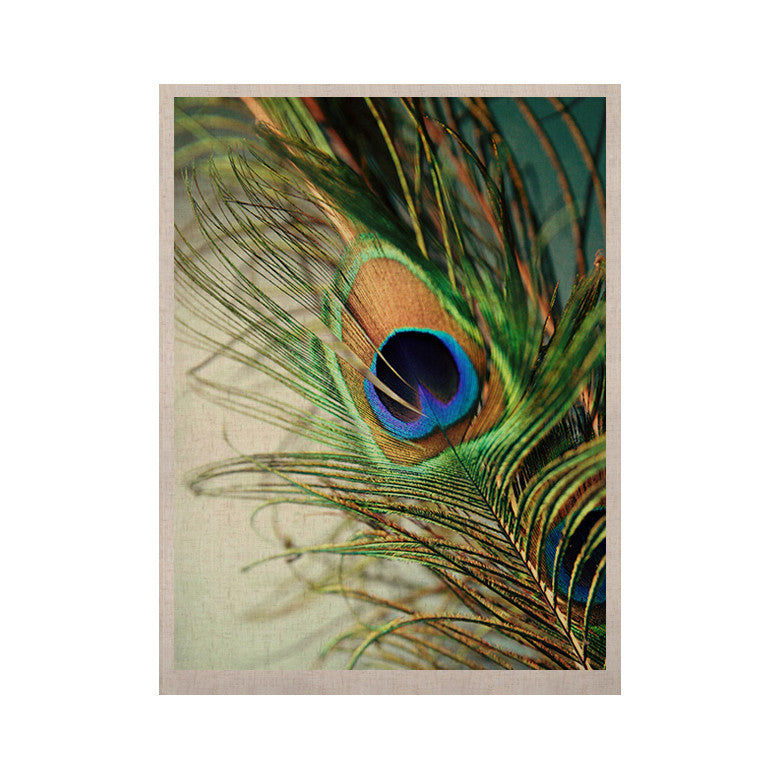 "Sylvia Cook ""Teal Peacock Feather"" KESS Naturals Canvas (Frame not Included) - KESS InHouse  - 1"