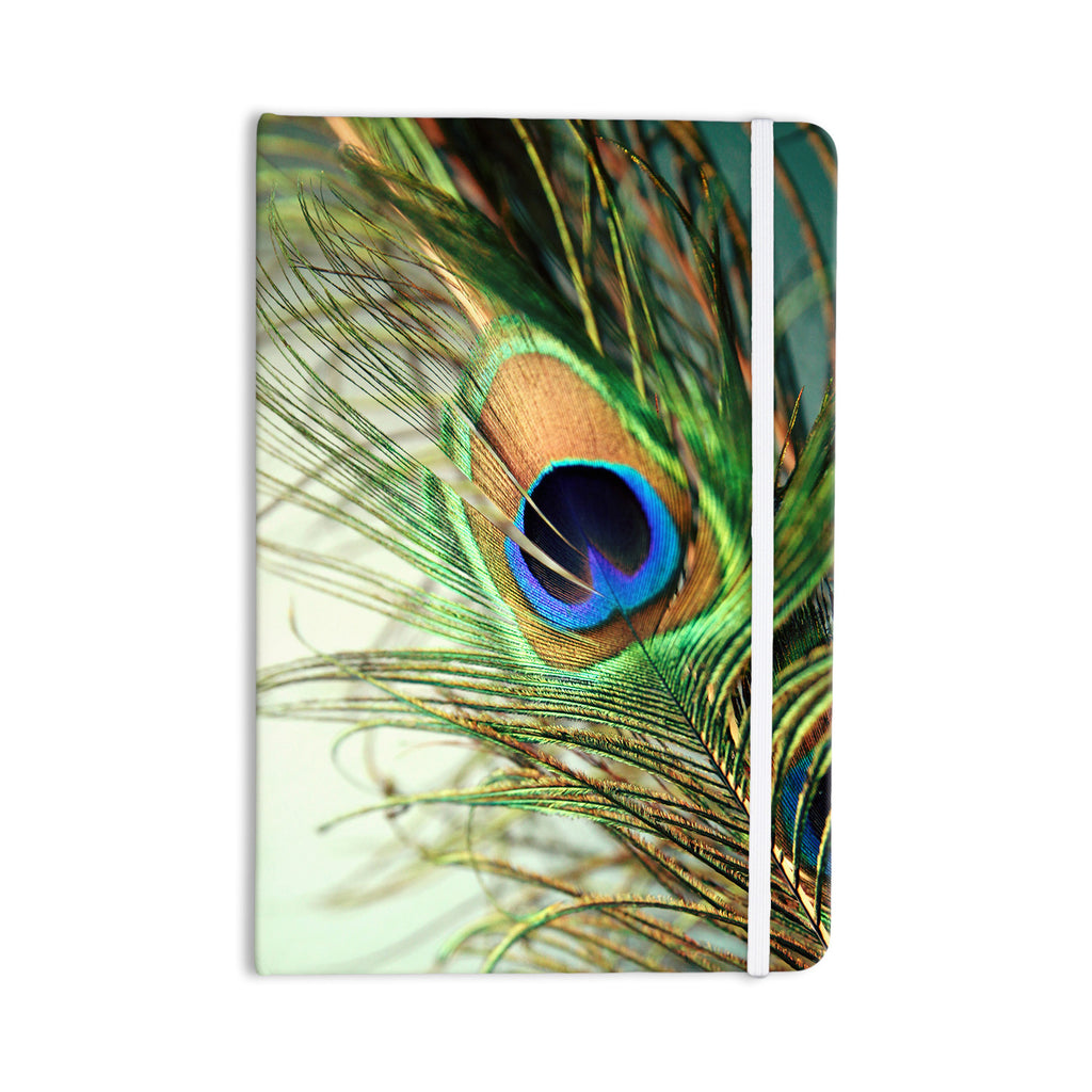 "Sylvia Cook ""Teal Peacock Feather"" Everything Notebook - KESS InHouse  - 1"