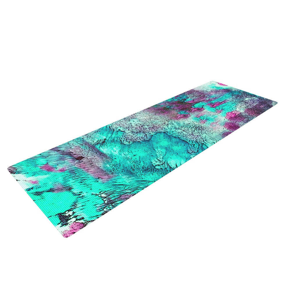 "Sylvia Cook ""Think Outside the Box"" Yoga Mat - KESS InHouse  - 1"
