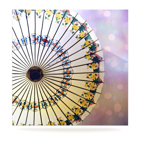 "Sylvia Cook ""Parasol"" Luxe Square Metal Art - KESS InHouse  - 1"